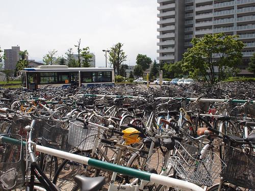 自転車置き場:桑園駅