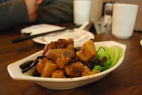 茶树菇排骨面 Mushroom and Pork Rib Stew with noodles - Hongyun Chinese Restaurant AUD9.50