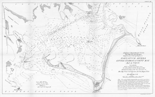 Pawcatuck River and Little Narragansett Bay, R.I. and Conn. in 3 sheets | by uconnlibrariesmagic