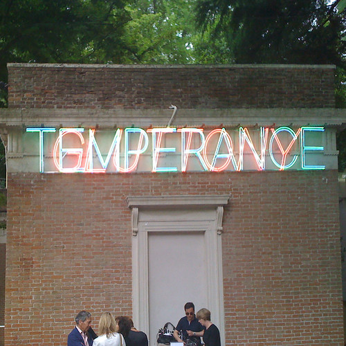'TEMPERANCE', Bruce Nauman's neon treatment of the USA Pavillion, Venice 2009 | by YOUR_studio