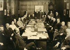 Jacob Schiff in a boardroom | by Center for Jewish History, NYC