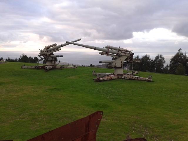 Cañones alemanes de 88 mm en el Parque Forestal de Monticaño