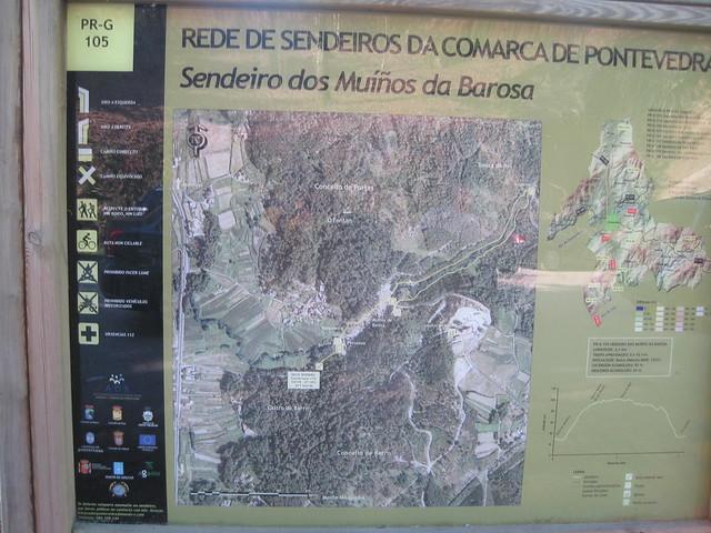 Panel Informativo en el PR-G 105 Sendeiro dos Muíños de Barosa