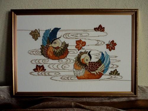 Мандаринки утки вышивка крестом