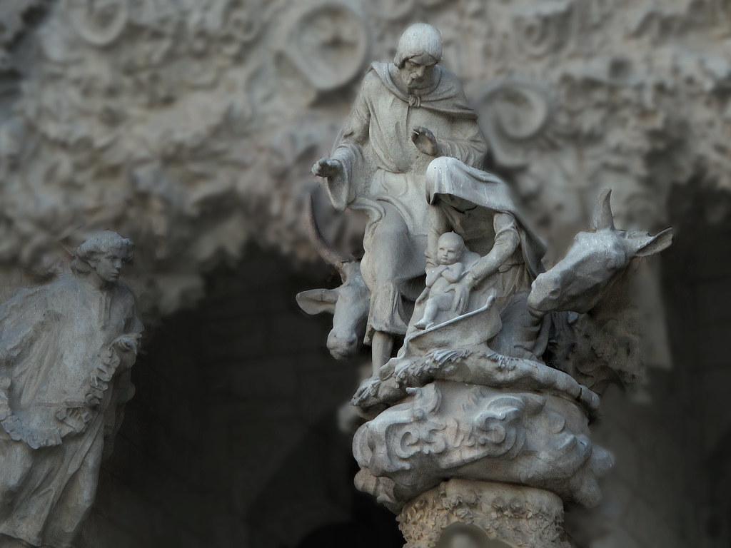 Sculpture de la nativité sur la Sagrada Familia de Barcelone. Photo de jacinta lluch valero.