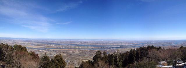 多度山 山頂からの展望 パノラマ