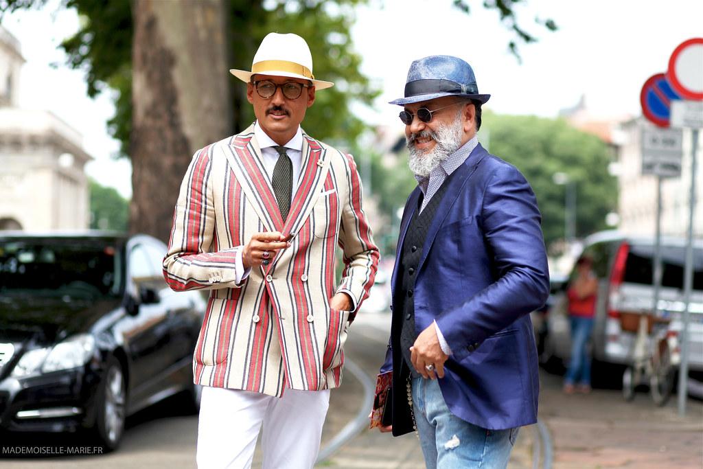 Fabrizio Oriani and Gianni Fontana at Milan Fashion week Menswear