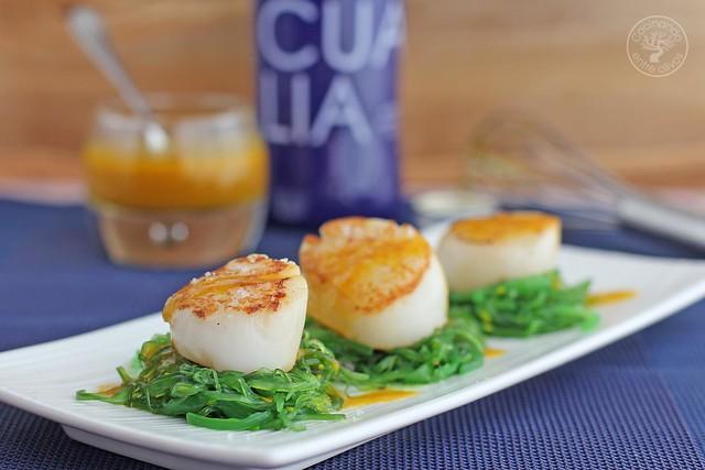 Cocinar Vieiras Plancha | Vieiras A La Plancha Con Wakame Y Vinagreta De Aji Amarillo