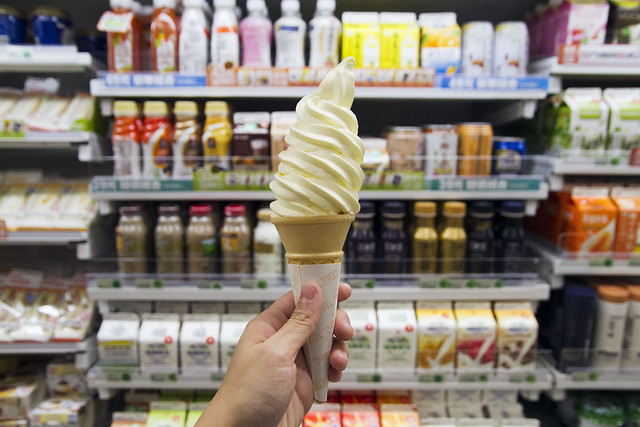 Cheesecake soft serve at 7-Eleven