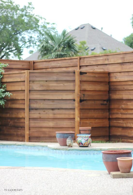 Hi Sugarplum The Backyard A New Horizontal Fence