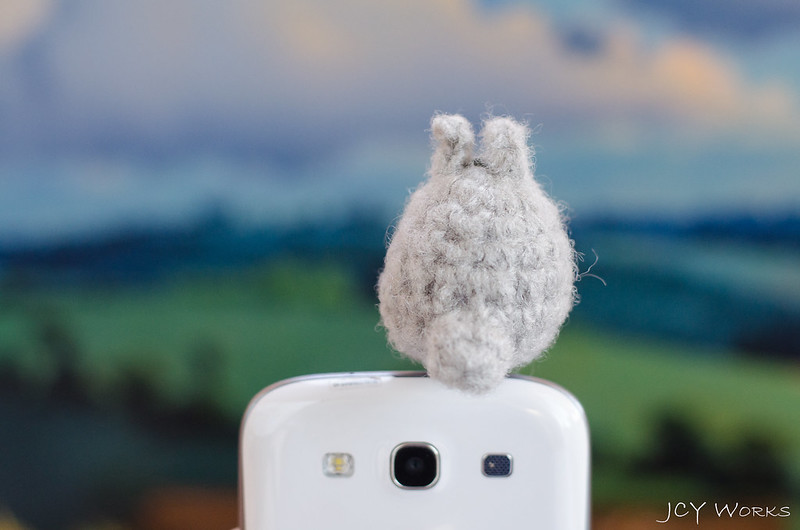 Cute My Neighbor Totoro Amigurumi Crochet Yarn Smart Phone Earphone Plug 06