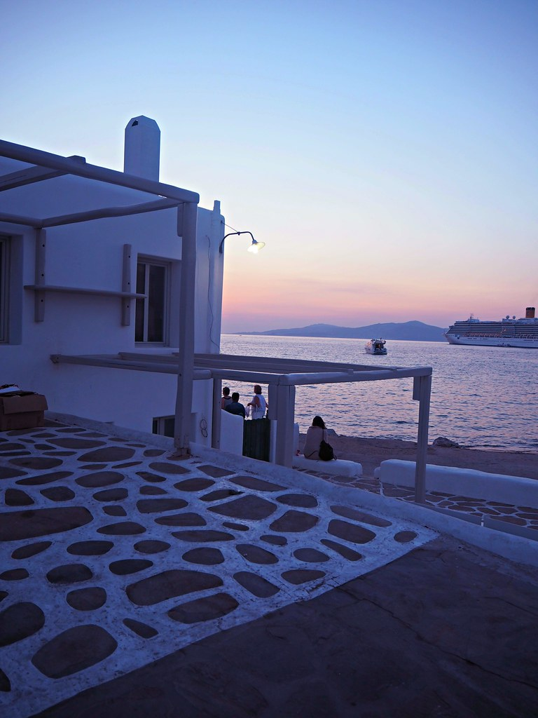 Mykonos windmills sunset 1