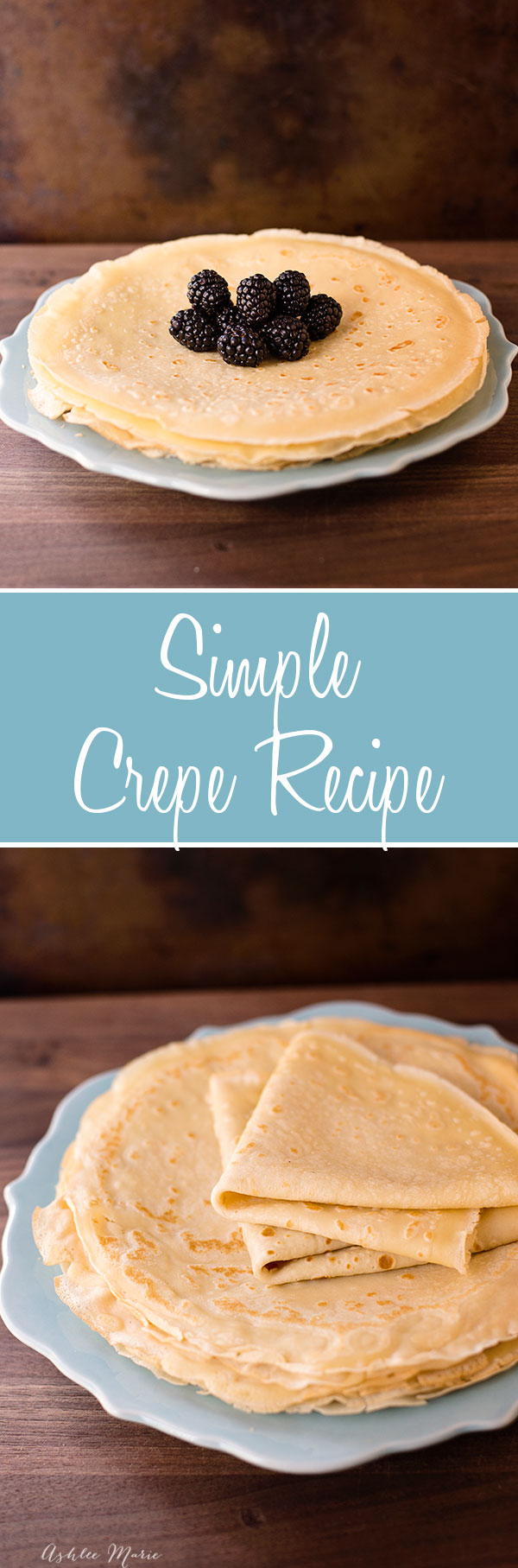 a simple crepe recipe.  They are easy to make, taste amazing and everyone loves them.  Plus I have a full video tutorial.