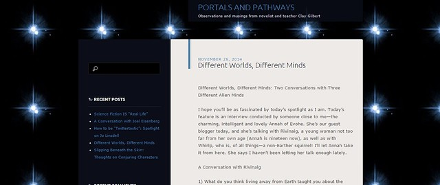 Character Interview on Portals and pathways