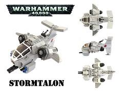 Warhammer 40K Stormtalon Gunship by Lego Admiral
