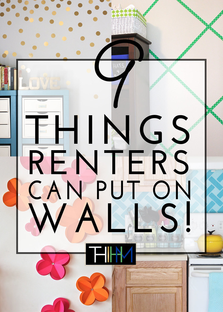 9 things renters can put on walls the homes i have made for Stuff to decorate room