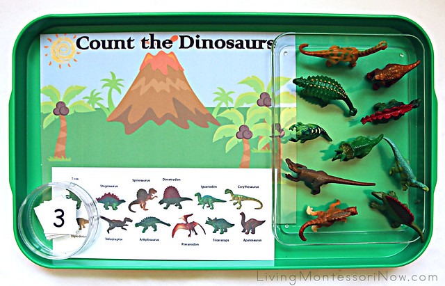 Count the Dinosaurs Tray
