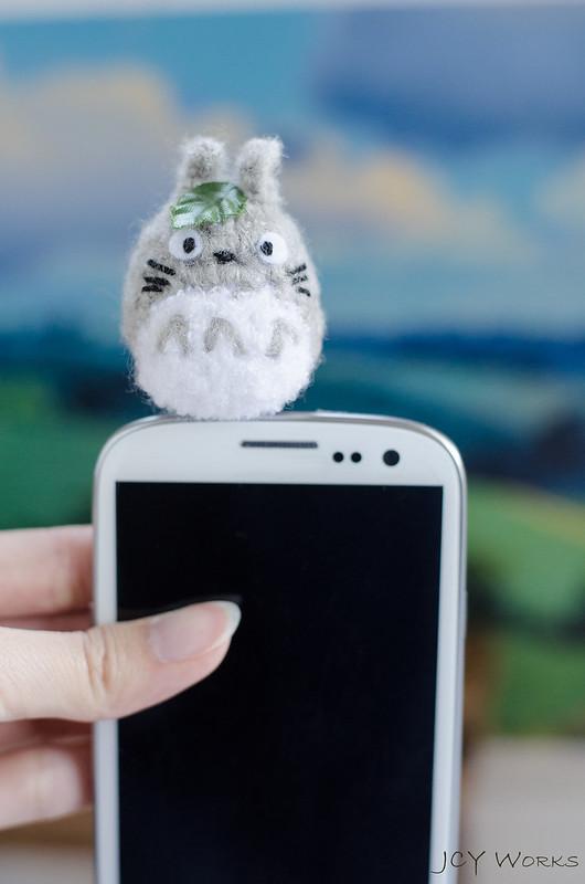 Cute My Neighbor Totoro Amigurumi Crochet Yarn Smart Phone Earphone Plug 07