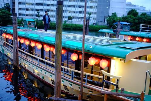 オーシャンブリッジ創立14周年記念屋形船