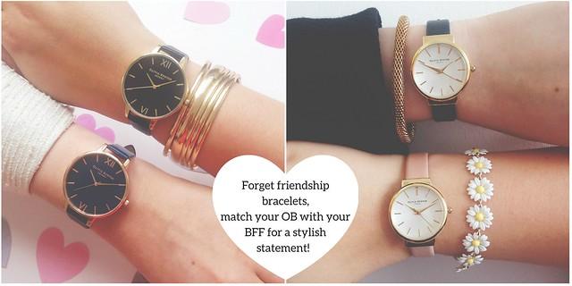 Olivia Burton friendship bracelet matching watches