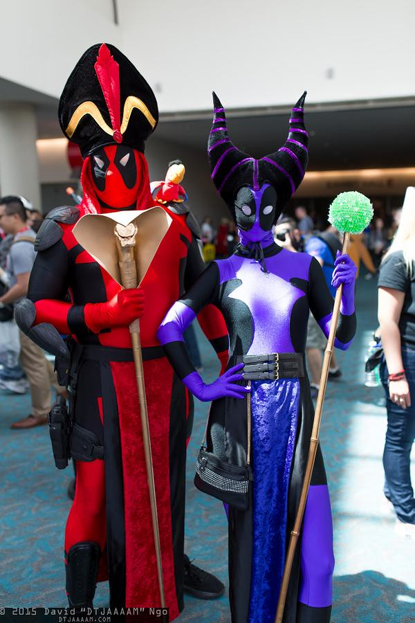 San Diego Comic-Con 2015 Cosplay - Deadpool Jafar and Lady Deadpool Maleficent