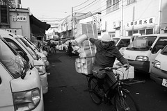 Fully loaded bike, Tsukiji Fish Market, Tokyo
