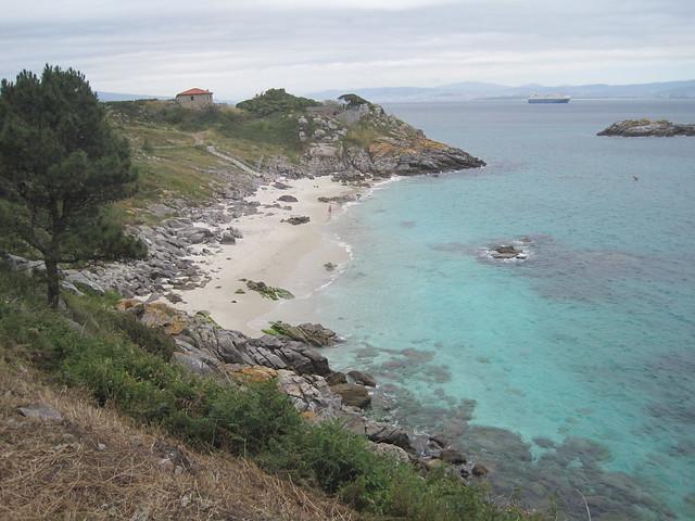 Playa de Nosa Señora en las islas Cíes