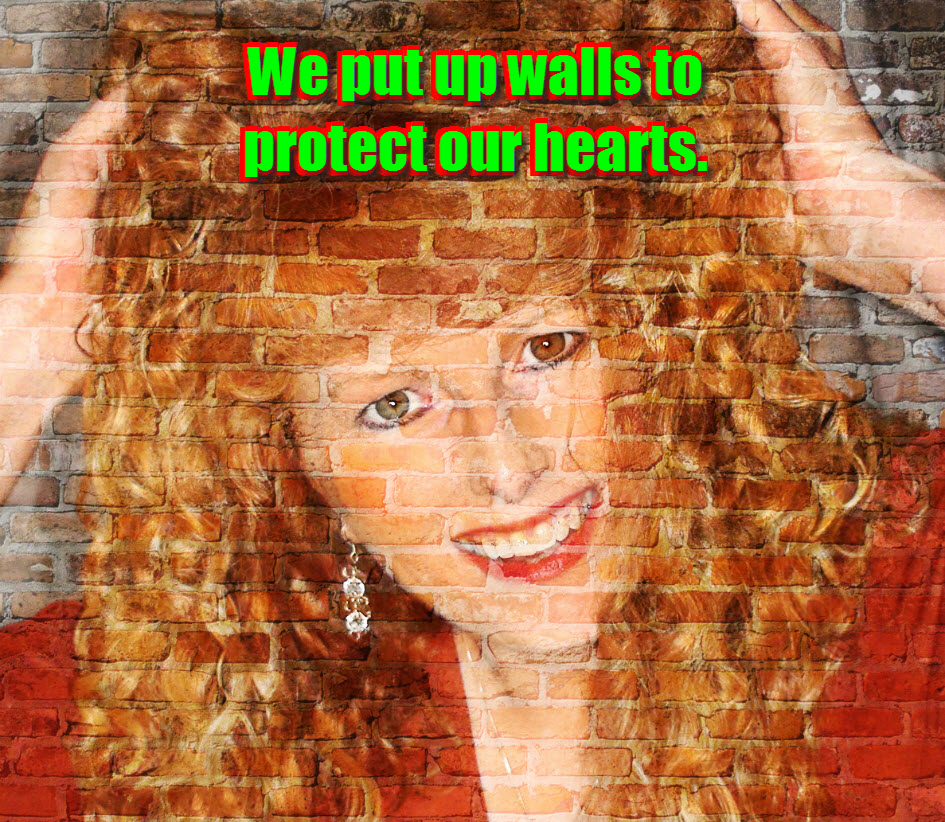 We put up walls to protect our hearts.