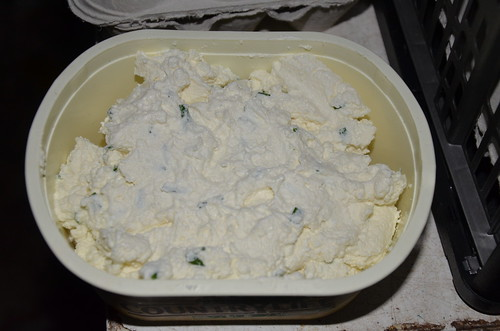 soft goat cheese with chives June 15