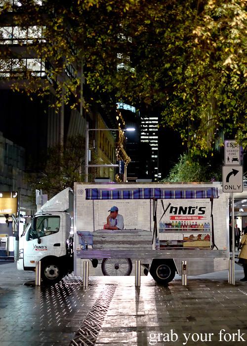 Yang's Malaysian Food Truck in Pitt Street Mall Sydney