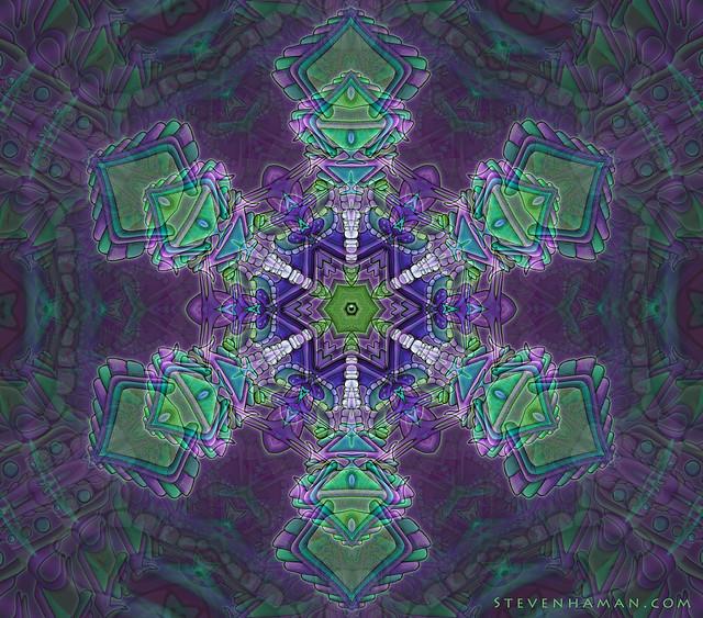 Green Purp Mandala