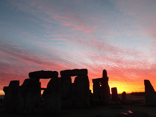 Sunrise at Stonehenge: Red sky in the morning. | by The Stonehenge Stone Circle Website.