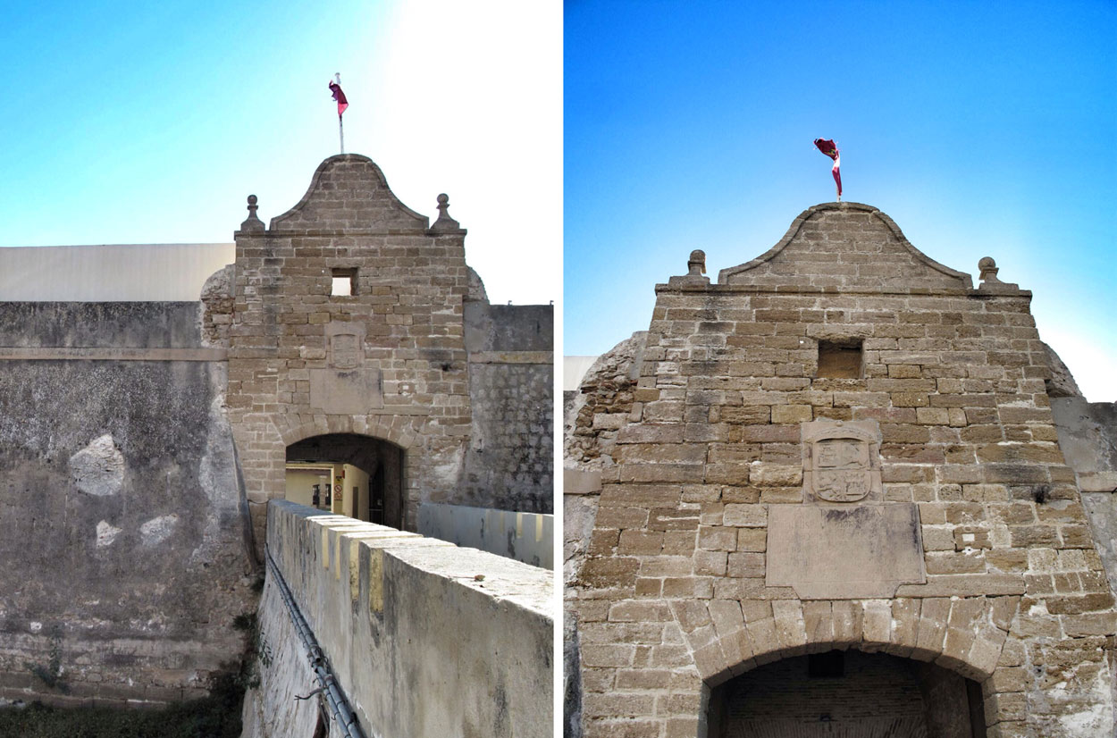 castillo santa catalina_cadiz_ingeniero_cristobal rojas_arquitectura defensiva_entrada_foso_esclusas
