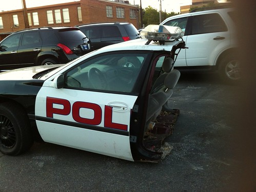 Half of a police car