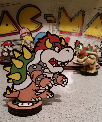 Custom Paper Mario Amiibo by SuperAmiigos - Bowser