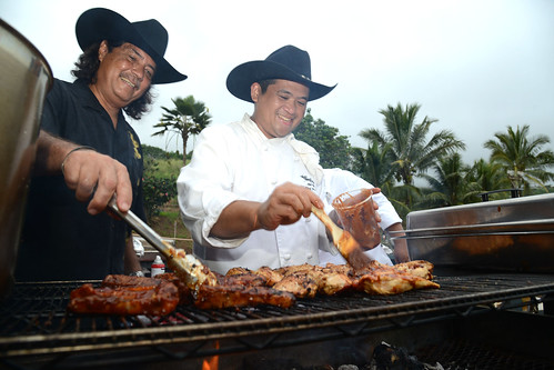 Mendes Ranch throws a Hawaiian Cowboy Barbecue with George