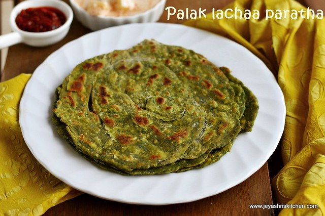 palak-lachha paratha
