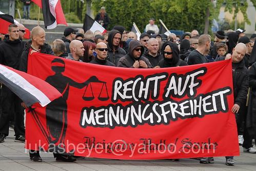 Neonazidemonstration in Merseburg blockiert