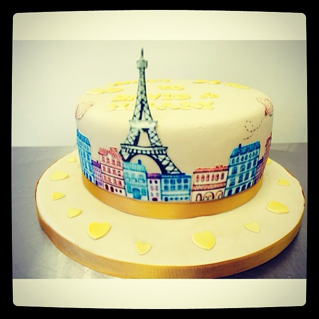 French Themed Birthday Cake French Themed Anniversary Cake