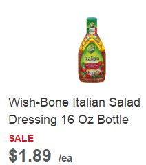 this is for 3 coupons: 1 coupon for $ off any 24 oz wish bone dressing, 1 coupon for spend $ and get $ off your total wishbone purchase, and 1 coupon for $ off any wish bone E.V.O.O. or avocado oil dressing.