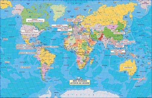 Carte de mes voyages