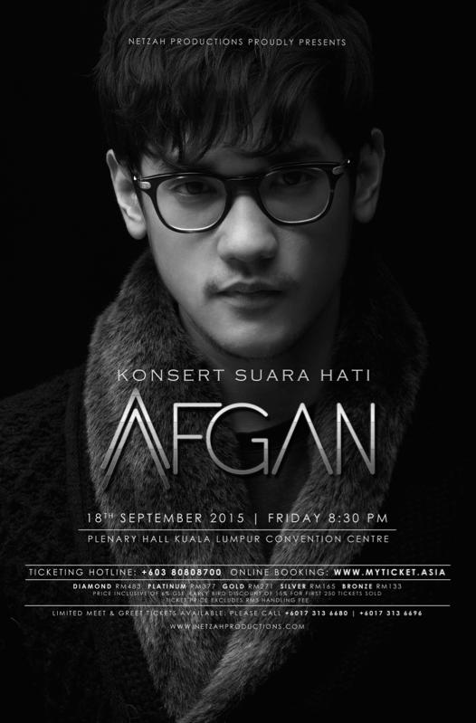 Pelancaran Tiket Konsert SUARA HATI AFGAN