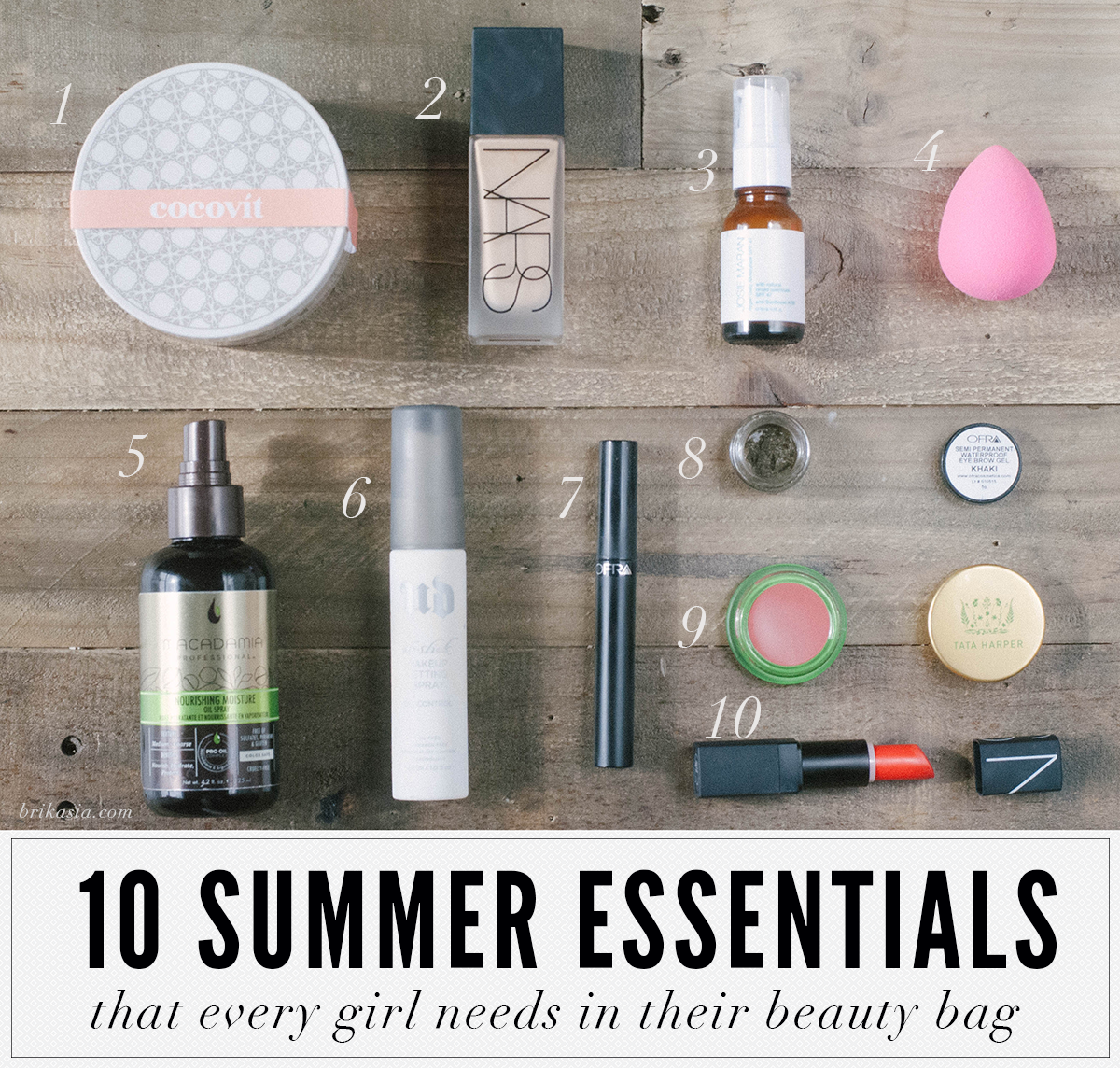 best summer beauty products, makeup products that last in the summer, long wearing beauty products, curly hair essentials