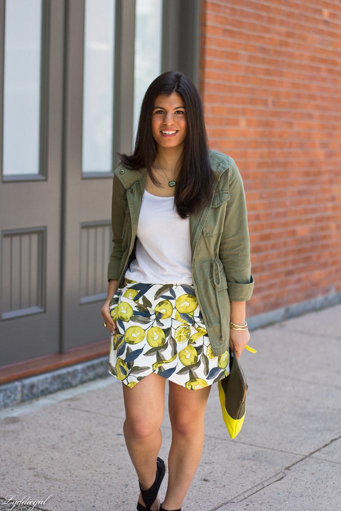 lemon print skort, utility jacket, white tee-5.jpg