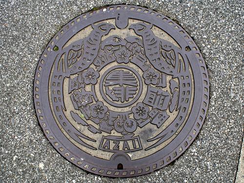 Azai Shiga, manhole cover (滋賀県浅井町のマンホール)