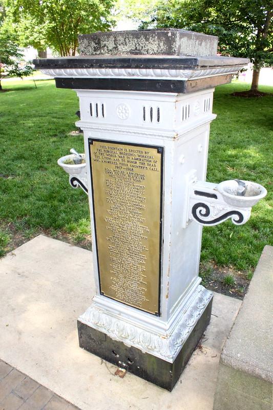 WWI Memorial Fountain - Jackson, TN