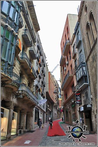 Carrer Major de Lleida, Cataluña. España.