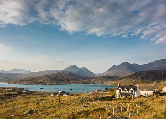 Ardhasaig with Clisham, Isle of Harris