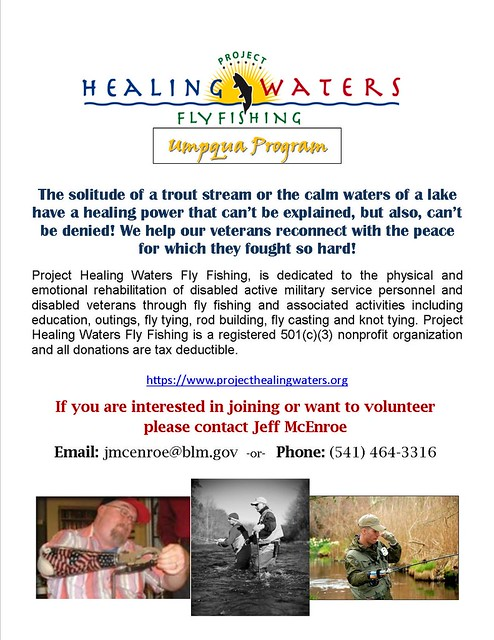 Project Healing Waters - Umpqua Program Flyer