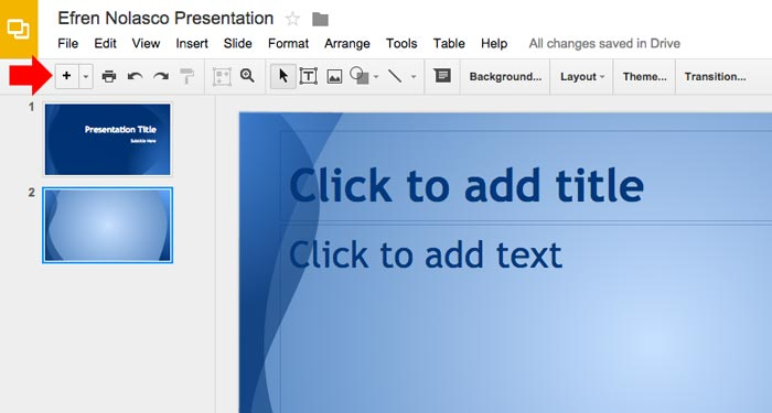 How to create powerpoint presentation step 7